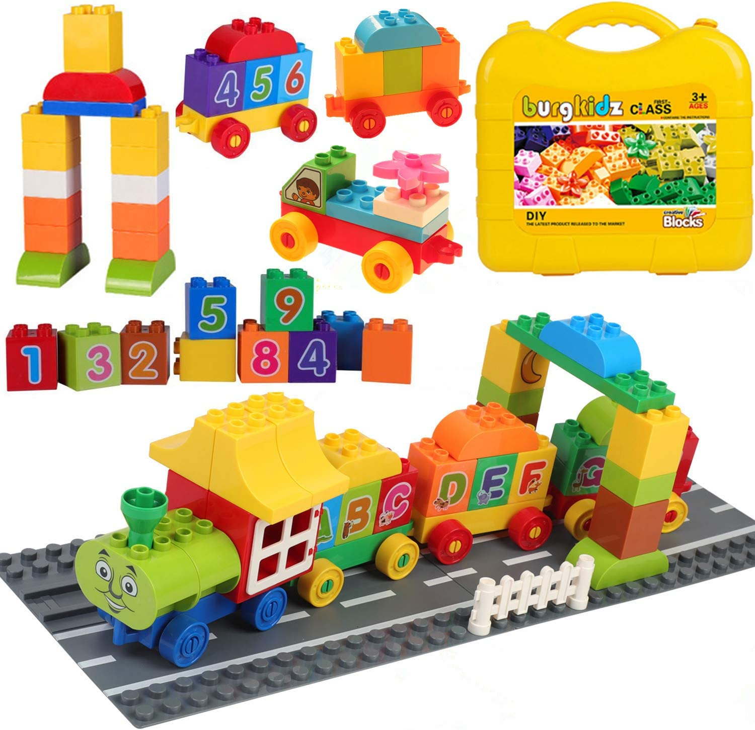 Large Brick Building Set Early Learning Kid Starter Basic Creative Toy Best Gift