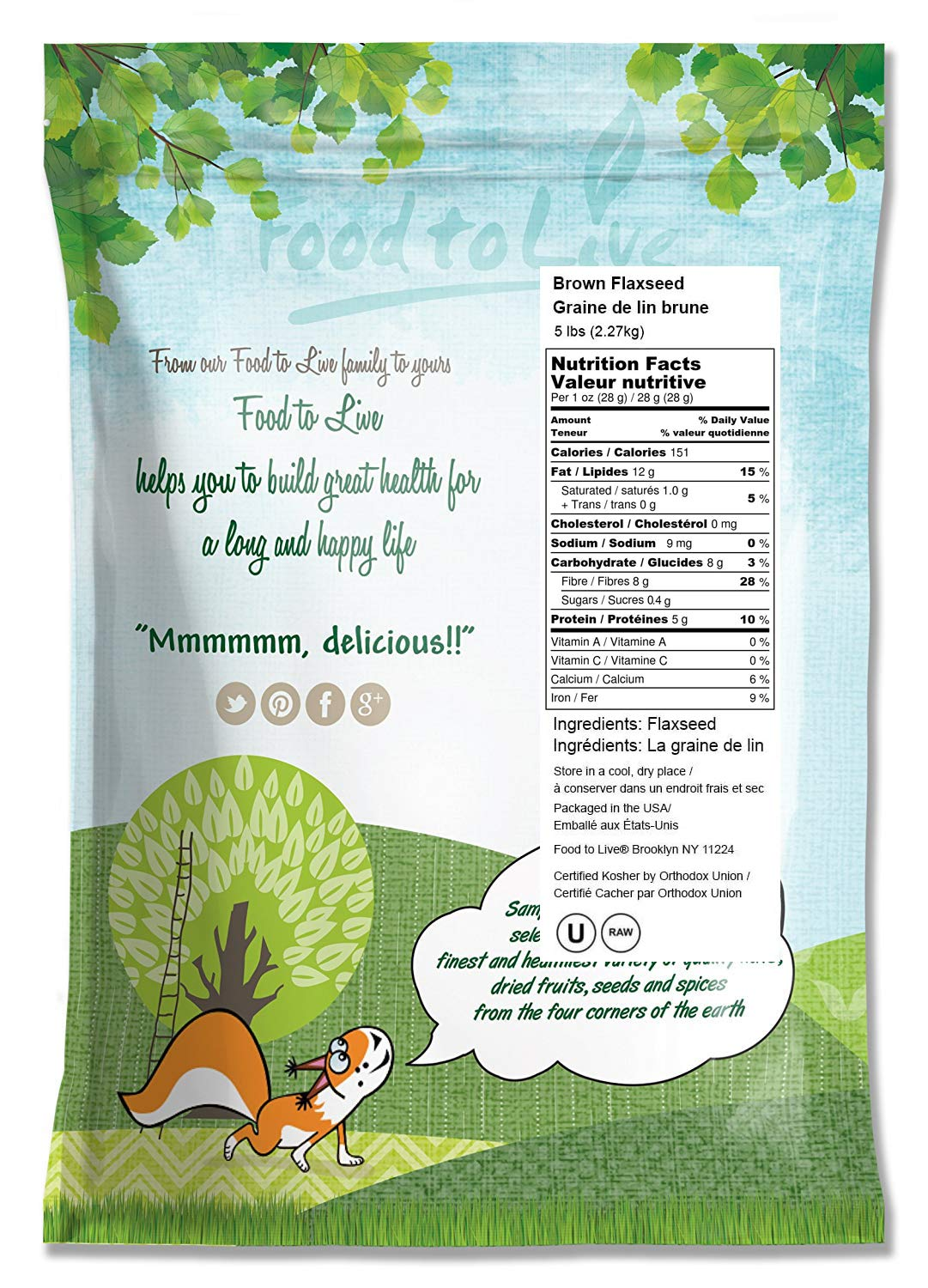 Food To Live Semillas de lino.: Amazon.com: Grocery ...