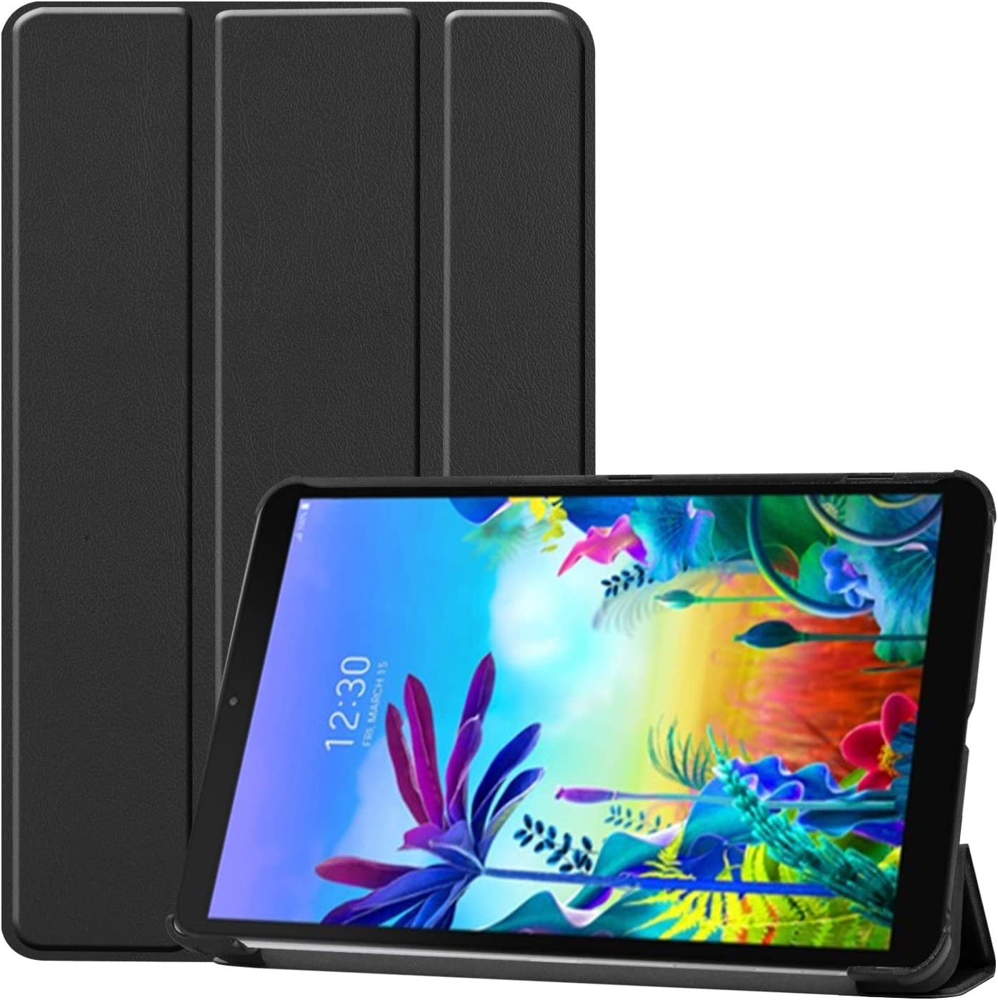 Gylint LG G Pad 5 10.1 Case, Smart Case Trifold Stand Slim Lightweight Case Cover for LG G Pad 5 10.1 Inches Tablet 2019 Release, Model:LM-T600L, T600L Black