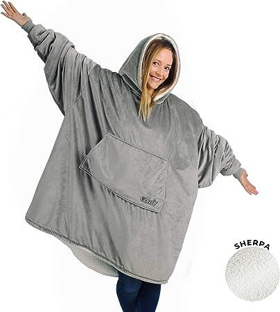 THE COMFY Original Oversized Microfiber & Sherpa Wearable Blanket Hoodie
