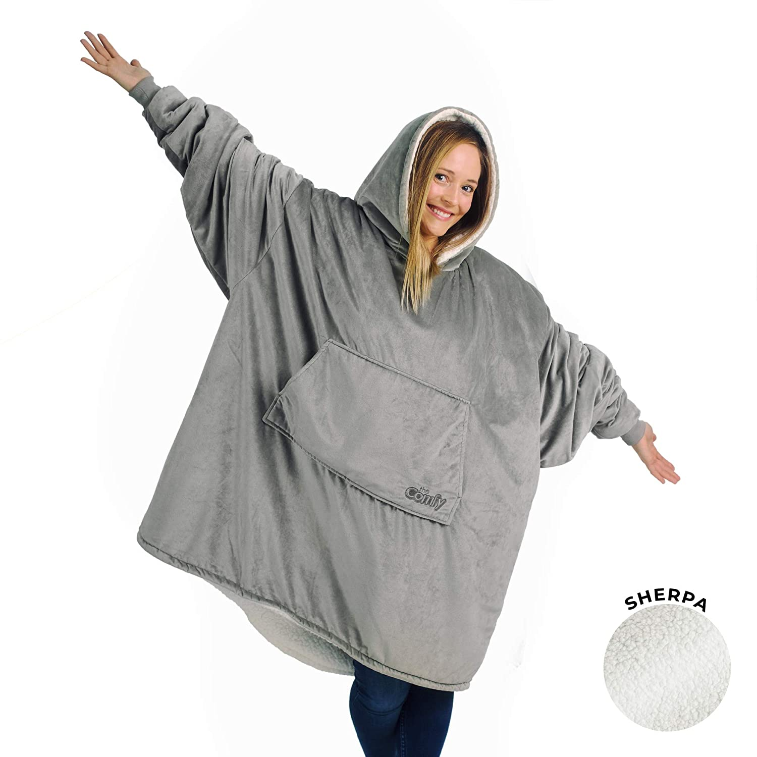 THE COMFY ORIGINAL   Oversized Microfiber & Sherpa Wearable Blanket, Seen  On Shark Tank, One Size Fits All: Buy Online at Best Price in UAE -  Amazon.ae