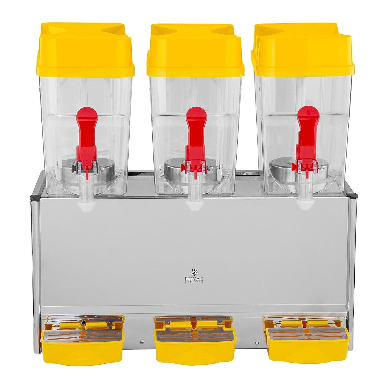 Royal Catering Dispensador De Bebidas Frías RCSD-36C (2 x 18 L, 280 W, 7-12 °C, Sin BPA, Ciclo de trabajo: 8-12h): Amazon.es: Hogar