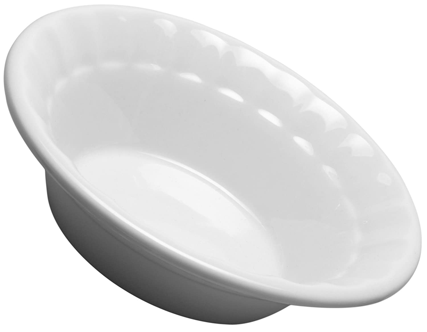HIC Harold Import Co. 98054 HIC Individual Deep Dish Pie Plate 5-Inch Fine White Porcelain
