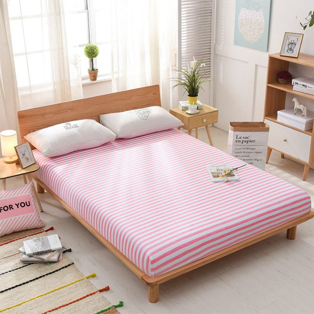 Fabric Sides Bed Cover,Bed Sheet Single Bed Cover Dust Cover Non-slip Mattress Cover Process.5m 1.8m 2 Meter Bed Cover Eco-D 150x200cm(59x79inch)