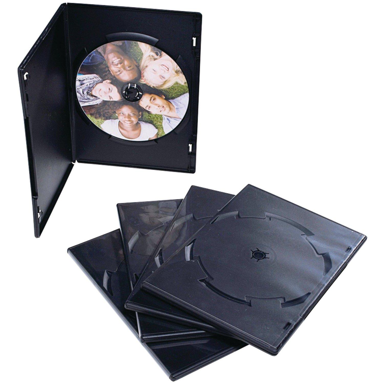 Verbatim DVD or Blu-Ray Tall Video Storage Case - 50 Pack, Black 95094