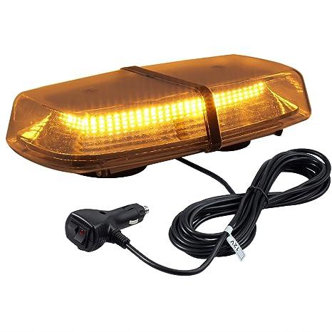 72 LED Luz Estroboscópica de Advertencia 8 Modos de Flash con 5 metros Cable de Interruptor