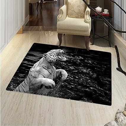 Amazon.com: Safari Rugs Bedroom White Tiger Wintertime Rare ...