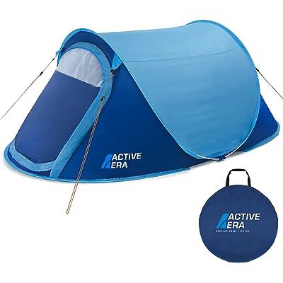 Active Era Tienda Instantánea de Campaña Pop-Up Premium para 2 Personas: 100% Impermeable - con Ventilación Avanzada y Diseño Duradero Camping y Festivales