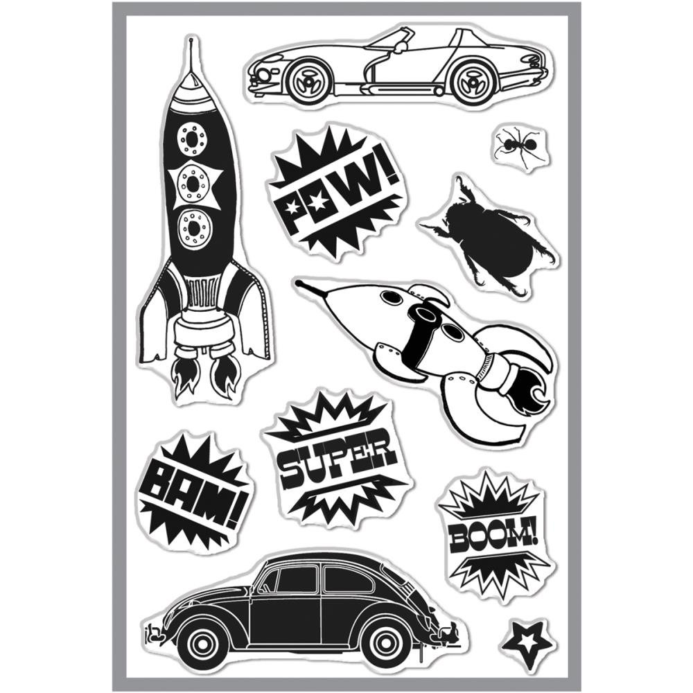 Basic Grey Knee Highs & Bow Ties Clear Stamps By Hero Arts-Bow Ties Bam 11 Images   B00BO7RT5C