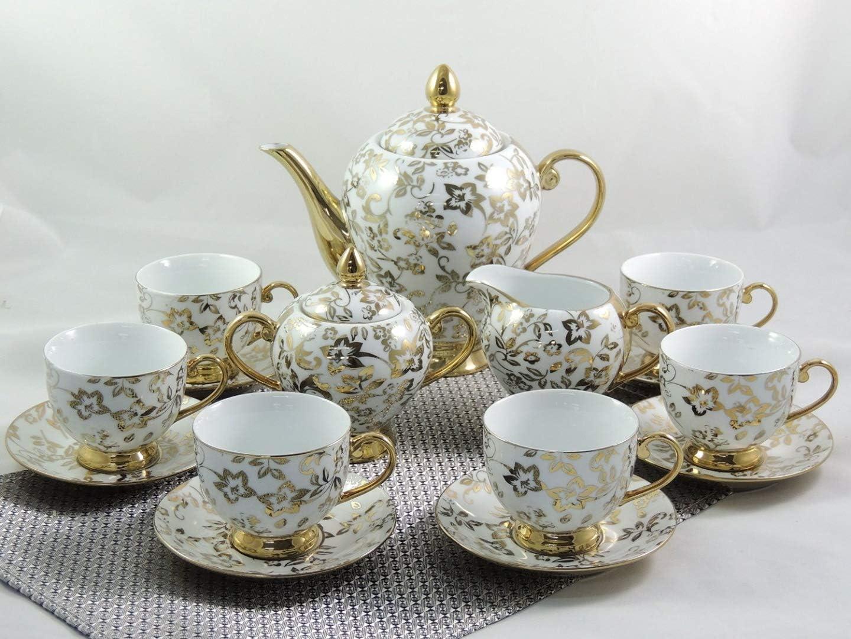 Juego de café, Porcelana, 15 Piezas
