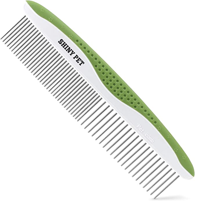 Metal Comb For Dogs Great Shedding Tool Blue 16cm Cats and Other Pets Gaetooely Pet Grooming Comb