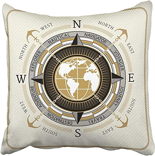 4pcs pillows for couch cushion covers travel sailing wheel boat US SELLER