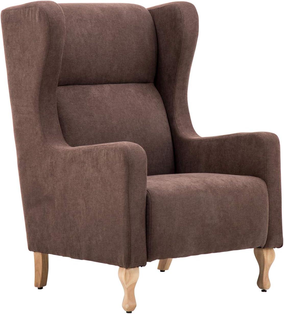 metallo robusto e gambe in legno Design retr/ò poltrona poltrona sedia a dondolo tessuti di velluto,Blue