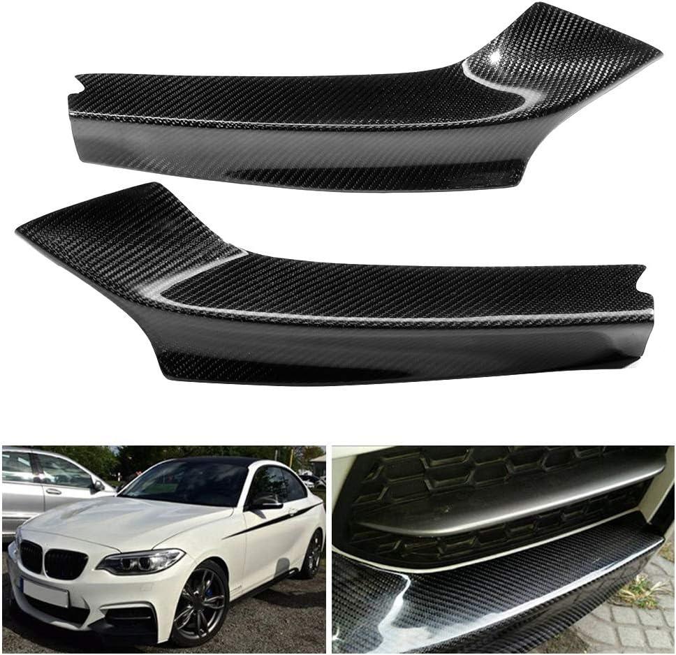 1 Pair Carbon Fiber Front Bumper Lip Splitter Flaps Fit For 2 Series F22 with M Sport Bumper Only M235 14-18 Car Front Splitters Bumper