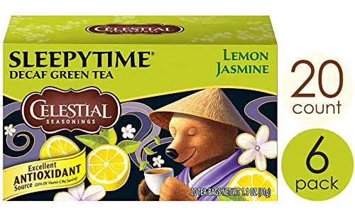 Celestial Seasonings Green Tea, Sleepytime Decaf Lemon Jasmine