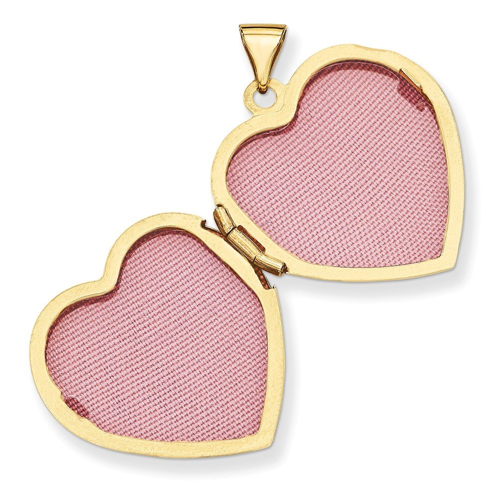 Mia Diamonds 14k Yellow Gold Heart Locket