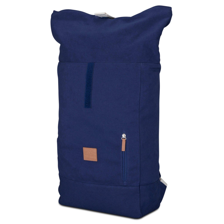 fefe025c5b7f2 Johnny Urban Rucksack Damen   Herren Blau Roll Top Daypack aus Baumwoll  Canvas - Lässiger Vintage Tagesrucksack für den Alltag - Wasserabweisend    sehr ...