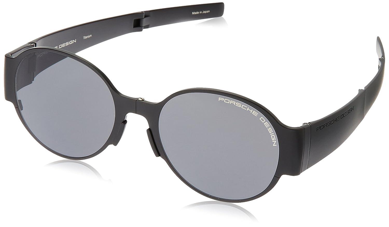 228e8cda69b1 Amazon.com  Porsche Design Foldable Black Sunglasses with Grey Lens P8592  B  Clothing