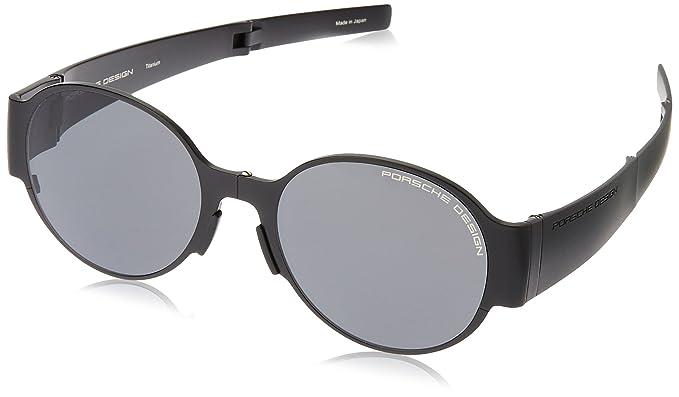 3a6fb7e51ee Amazon.com  Porsche Design Foldable Black Sunglasses with Grey Lens ...