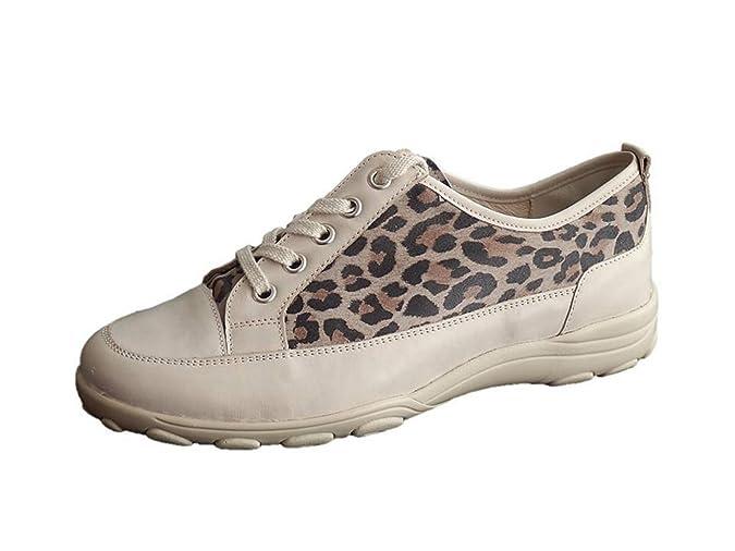 ffb89469ee5e1c Semler Sneaker Schnürschuhe Damen Sand Leo Leder Weite H  Amazon.de  Schuhe    Handtaschen