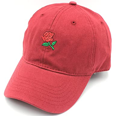 Hatter USA Embroidered Rose Unstructured Unisex Dad Hat at Amazon Men s  Clothing store  3856aea92581