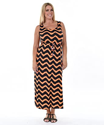 Allora Womens Plus Size Chevron Maxi Dress At Amazon Womens
