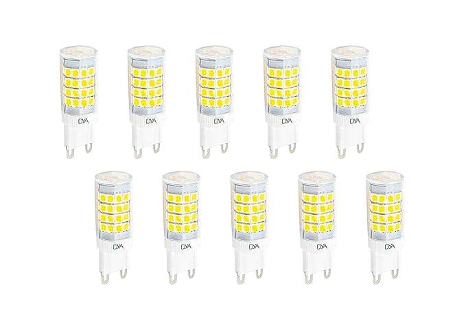 DYA - Juego de 10 bombillas LED Bispina con casquillo G9, 6 W, 510