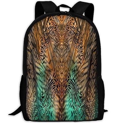 ZQBAAD Leopard Texture Luxury Print Men And Women's Travel Knapsack