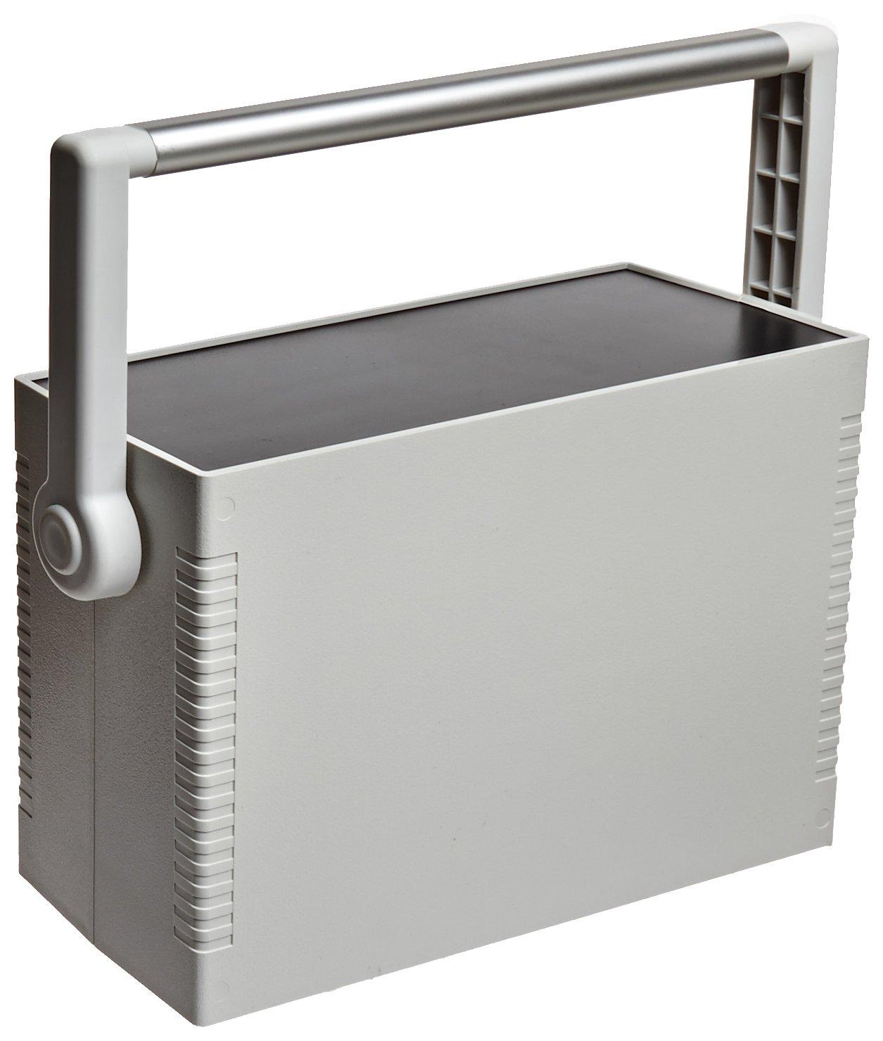BUD Industries IP-6138 Plastic Instrument Case, 10-3/16'' Width x 4-1/8'' Height x 7-5/64'' Depth, Gray Finish
