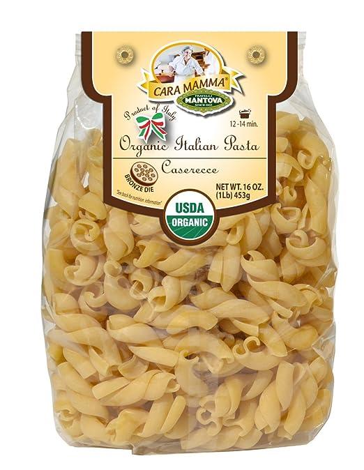 Mantova Organic Italian Speciality Pasta, Caserecce (2 packs of 1 lb. each) - Artisan Pasta