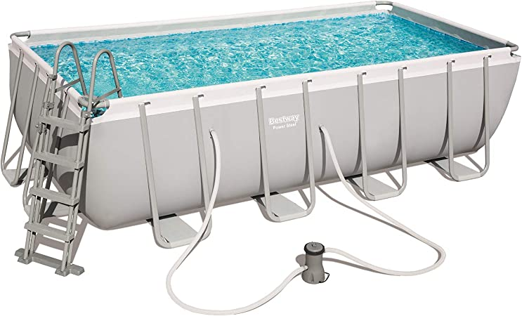 Piscina tubular Bestway rectangular 488X244X122: Amazon.es: Jardín