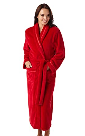 9a5145c507 Ladies Supersoft Fleece Wrap Dressing Gown. Berry Red