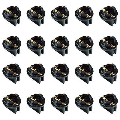 AUTUT 20 Pcs Light Bulb Twist Lock Socket W5W T10 168 194 Wedge Instrument Panel Dash Light Gauge Cluster Bulbs Base Sockets Extension Parts: Automotive [5Bkhe1002715]
