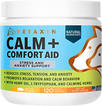 Petaxin Calm + Comfort Aid Supplement 120-Count Chews