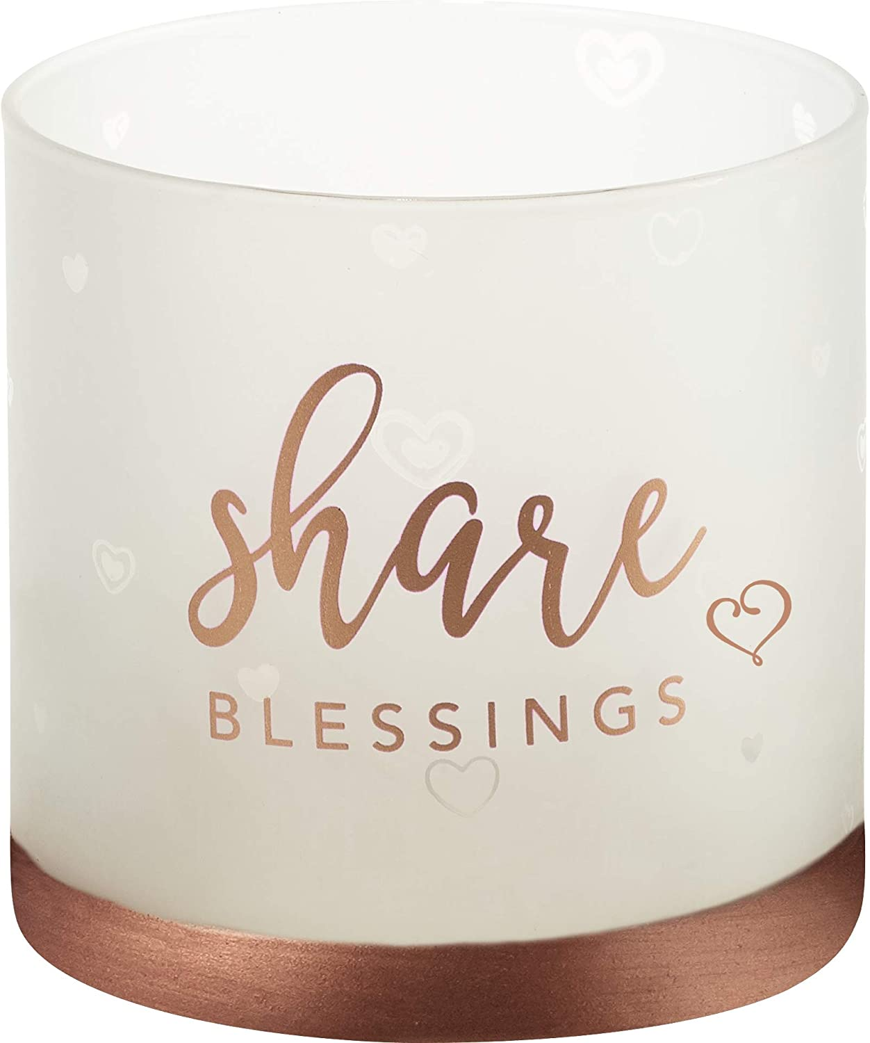 Precious Moments Share Hurricane 4in Candle Holder, Rose Gold