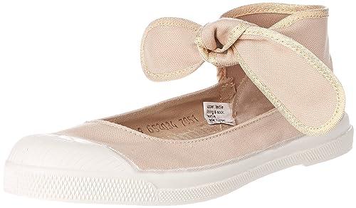 Bensimon Tennis FLO SHINYPIPING, Zapatillas para Mujer, Beige (Coquille 105), 41 EU: Amazon.es: Zapatos y complementos