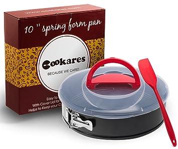 cookares molde desmontable antiadherente 10 Inch - PREMIUM Cheesecake para hornear molde para hornear con extraíble