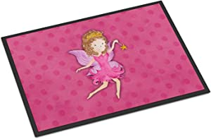 Caroline's Treasures BB7406MAT Fairy Princess Watercolor Indoor or Outdoor Mat 18x27, 18H X 27W, Multicolor