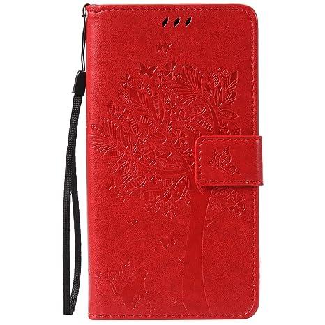 Nancen Tasche Hülle für Sony Xperia Z5 Premium / Z5 Plus Flip Schutzhülle Zubehör Lederhülle mit Silikon Back Cover PU Leder