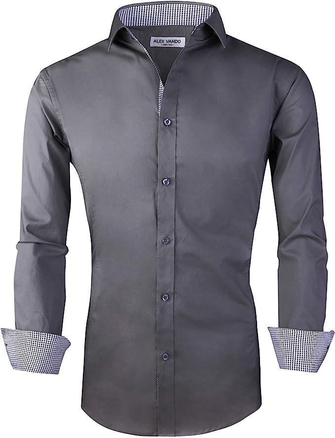 : Alex Vando Camisa de manga larga para hombre