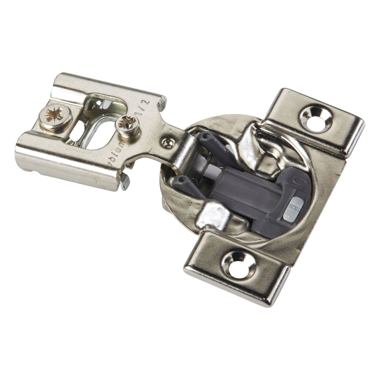 Blum Silver-finished Metal Screw-on Self-closing Cabinet Hinge (Case of 50)
