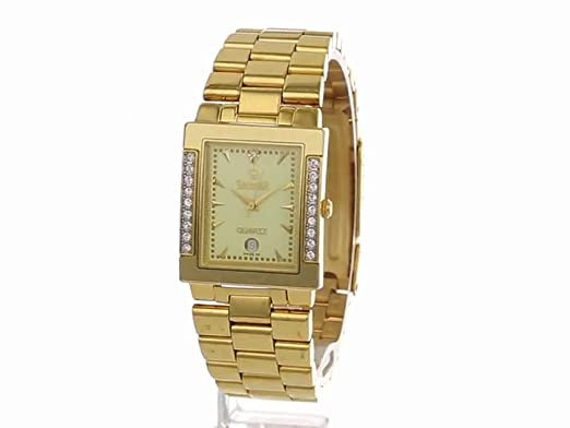 Amazon.com: Swistar Mens 77221-2M Gold Plated Stainless Steel Swiss Quartz Date Function Watch: Watches