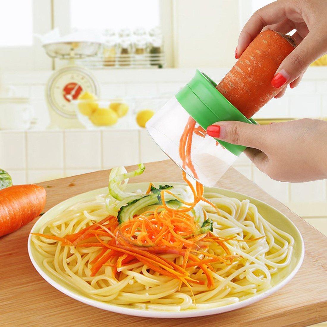 M/öhrenreibe M/öhrensch/äler Zucchini Spargelsch/äler 1-Klingen Gem/üsehobel Gurkensch/äler Gurkenschneider Spiralschneider Set f/ür Gem/üsespaghetti Kartoffel Famstore Spargelsch/äler
