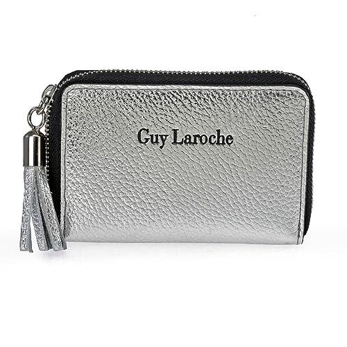 Monedero cremallera de mujer Guy Laoche 7105 (Color: Plata ...