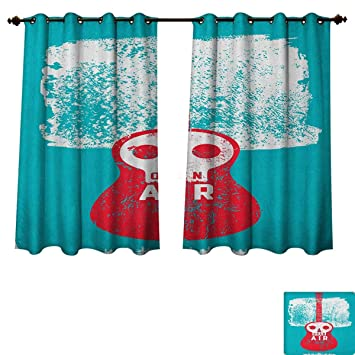 Amazon.com: Indie Bedroom Thermal Blackout Curtains Open Air ...