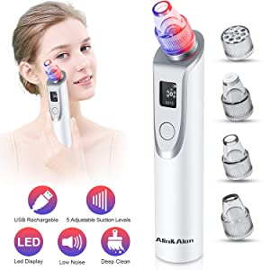 Blackhead Remover Vacuum - Pore Cleaner Electric Blackhead Suction Facial Comedo Acne Extractor Tool for Women & Men(02)