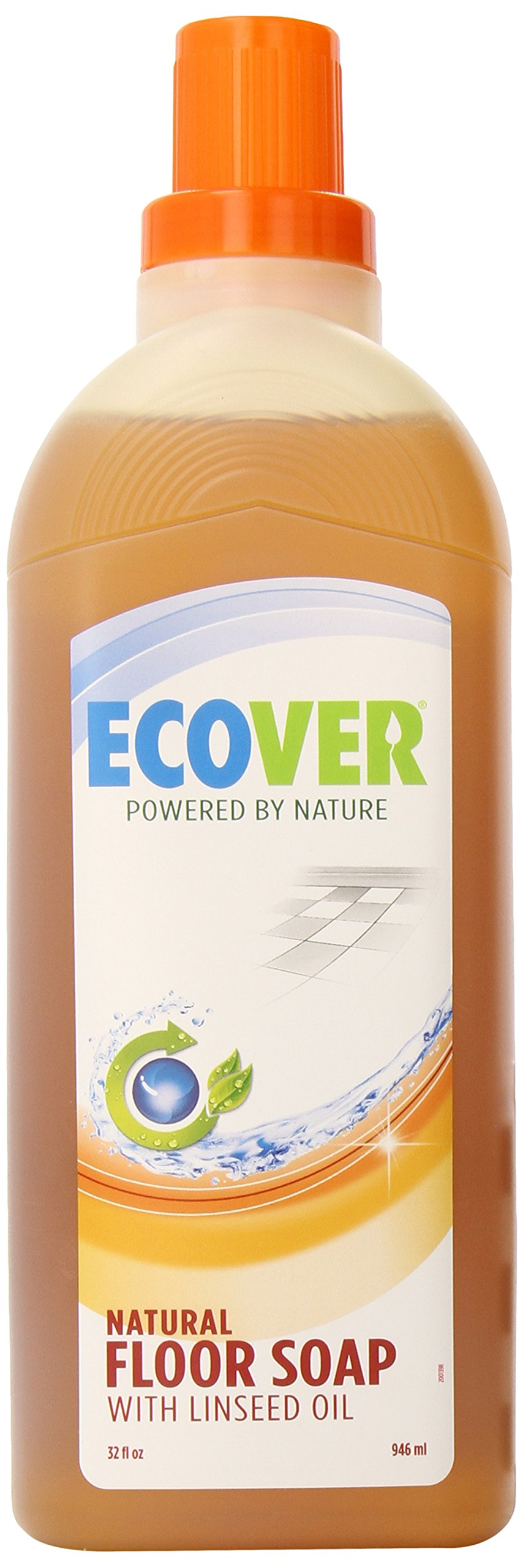 Ecover Natural Plant-based Linseed Floor Soap, 32 ounce , 12 Count