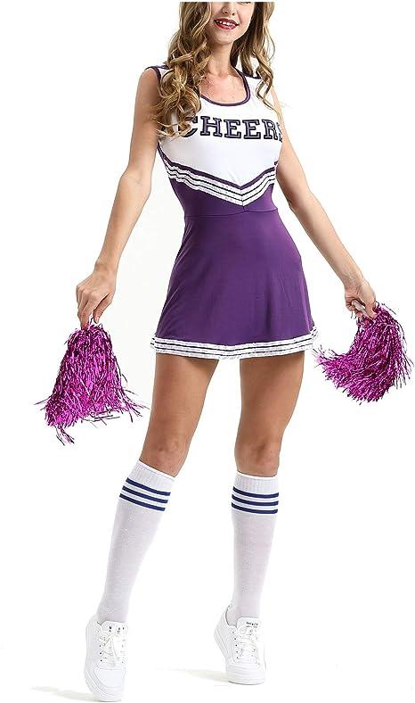 MEYOO Disfraz de Animadora para Mujer, para Vestimenta Uniforme ...
