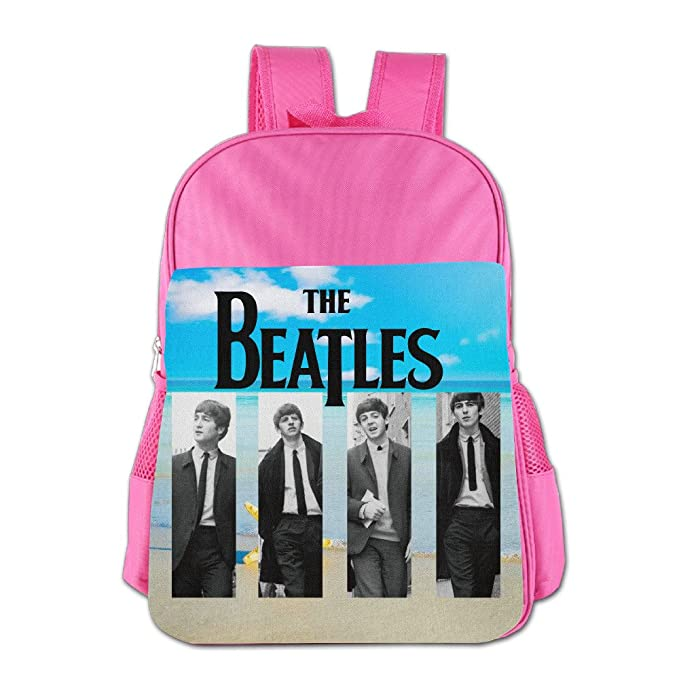 The Beatles Children's School Backpacks For 4-15 Years Old (2 Colors) Pink