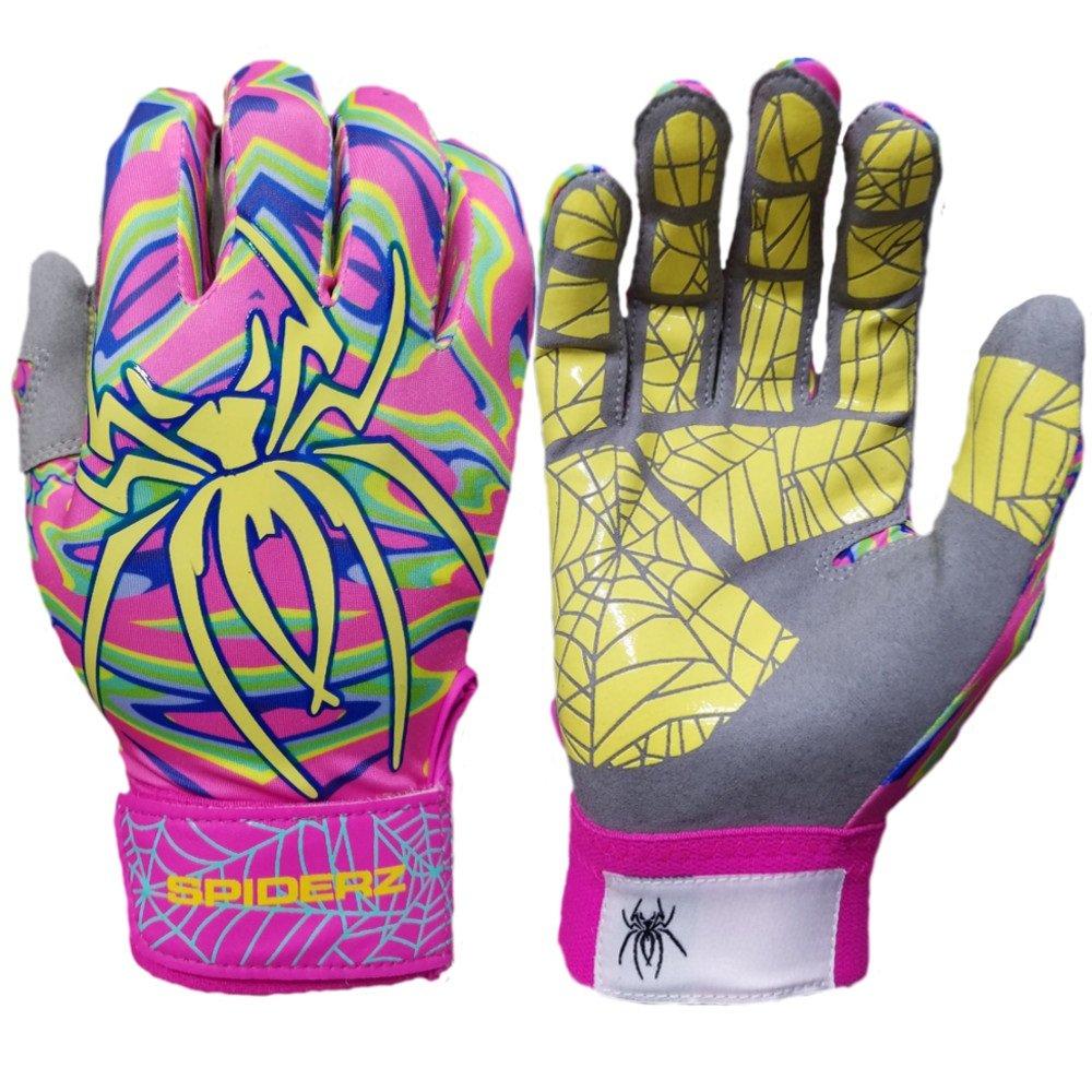 Spiderz Lite Batting Gloves with Enhanced Silicon Spider Webグリップ B07BYCNGK9 Adult Large ミスティック ミスティック Adult Large